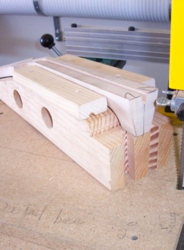 Cutting dovetails-neck